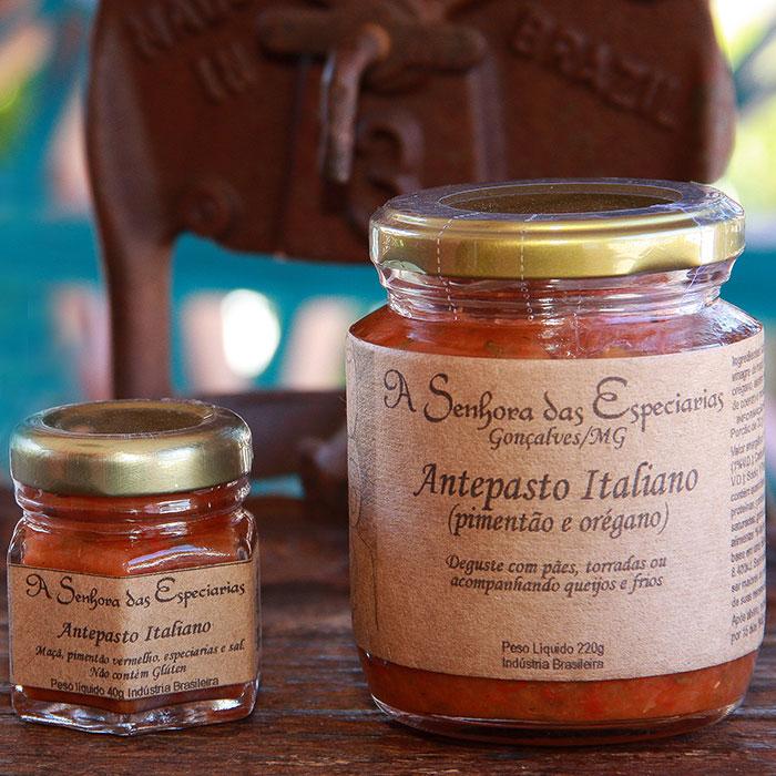 Antepasto italiano produzida por A Senhora das Especiarias em Gonçalves MG.