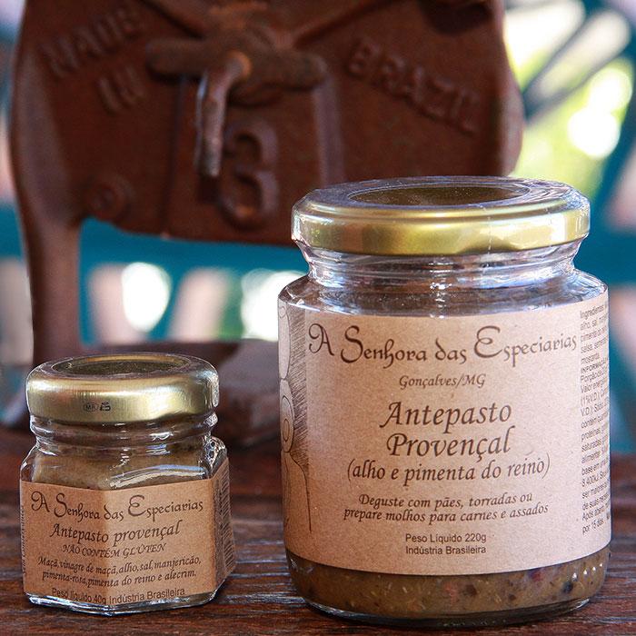 Antepasto provençal produzida por A Senhora das Especiarias em Gonçalves MG.