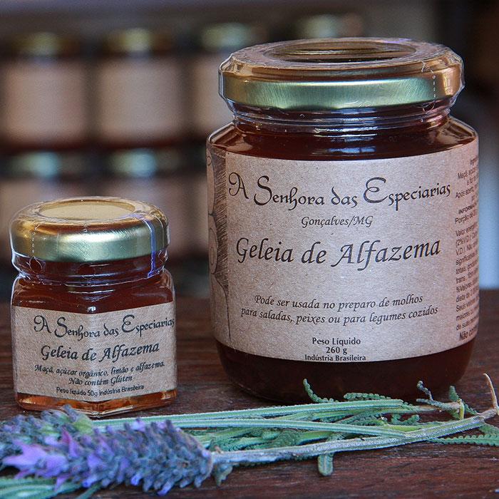 Geleia de alfazema produzida por A Senhora das Especiarias em Gonçalves MG.