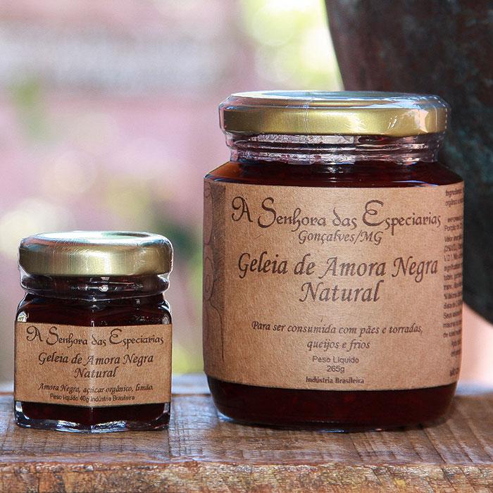 Geleia de amora negra natural produzida por A Senhora das Especiarias em Gonçalves MG.