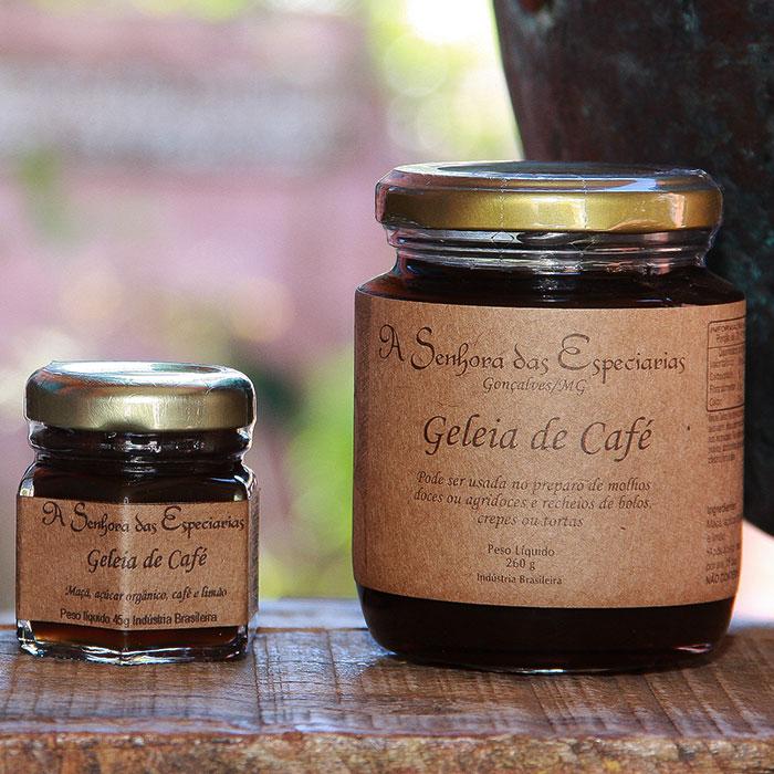 Geleia de café produzida por A Senhora das Especiarias em Gonçalves MG.