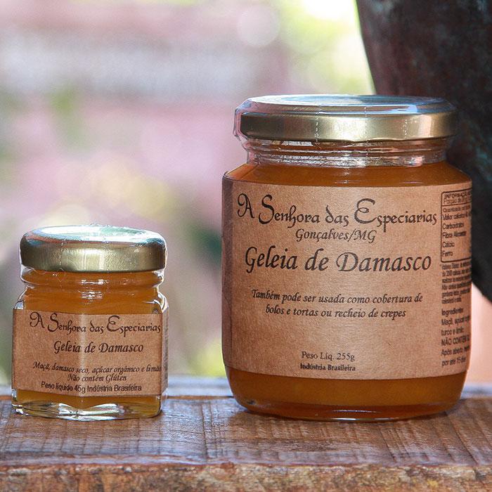 Geleia de damasco produzida por A Senhora das Especiarias em Gonçalves MG.