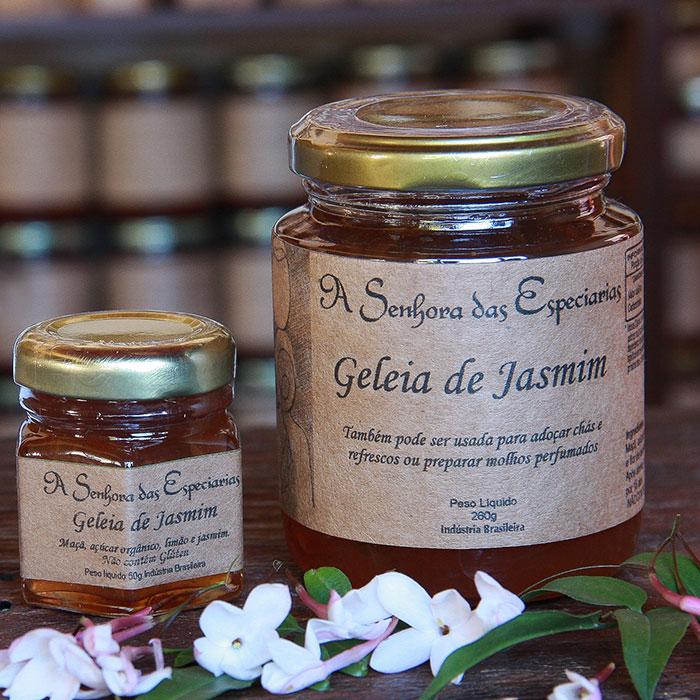 Geleia de jasmim produzida por A Senhora das Especiarias em Gonçalves MG.