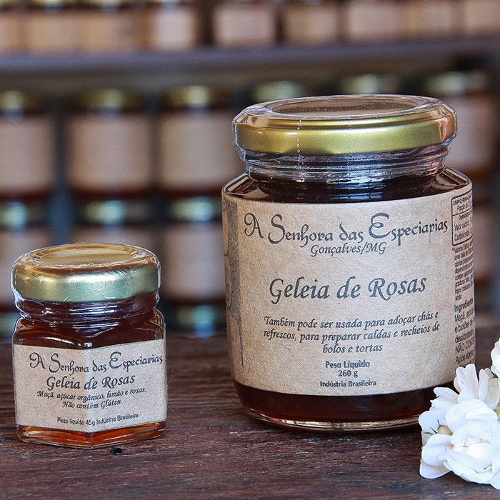 Geleia de rosas produzida por A Senhora das Especiarias em Gonçalves MG.