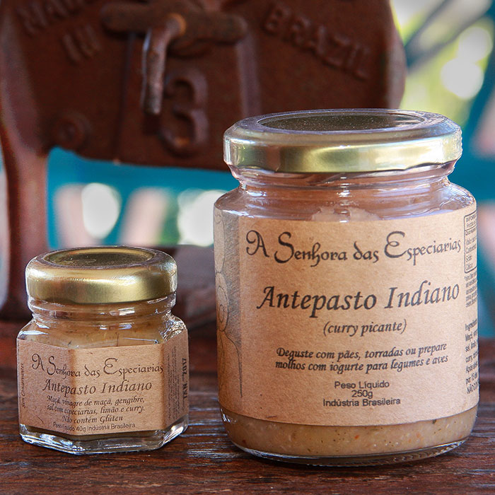 Antepasto indiano produzida por A Senhora das Especiarias em Gonçalves MG.
