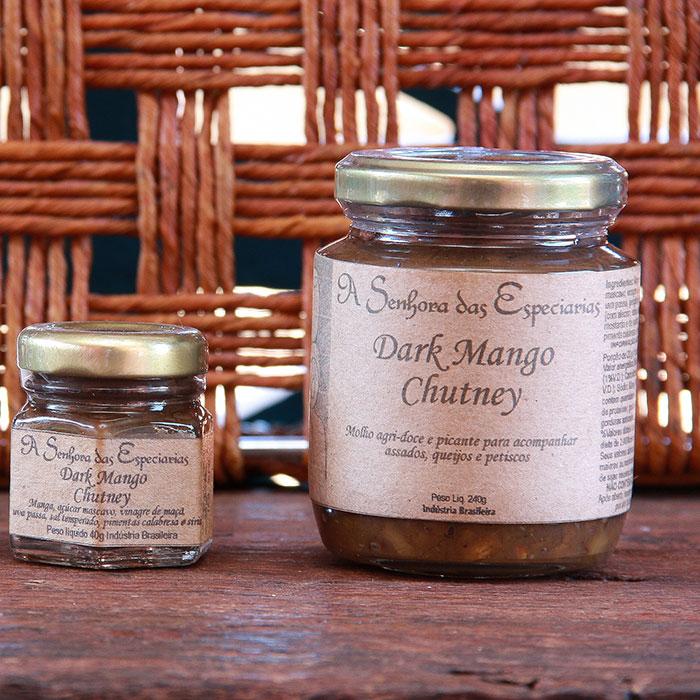 Dark mango chutney produzida por A Senhora das Especiarias em Gonçalves MG.
