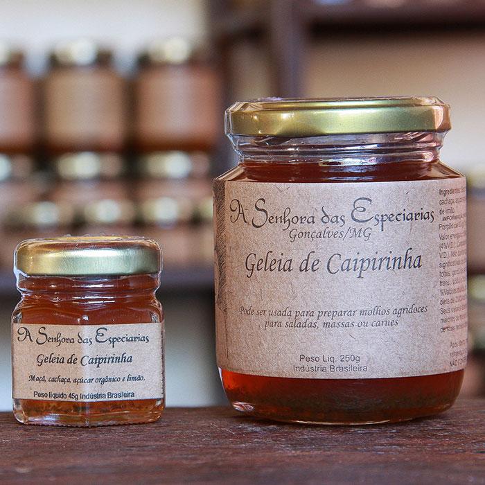 Geleia de caipirinha produzida por A Senhora das Especiarias em Gonçalves MG.