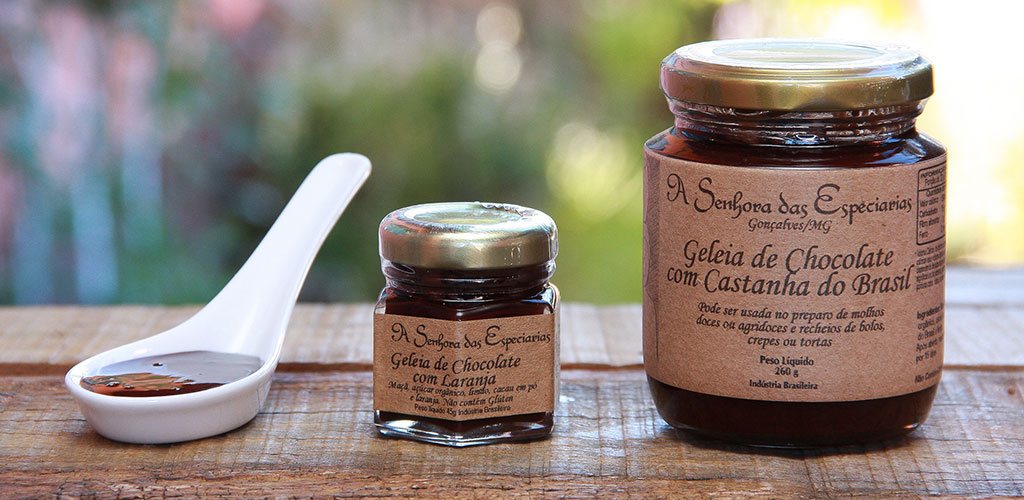 Geleia de chocolate com castanha do Brasil de A Senhora das Especiarias.