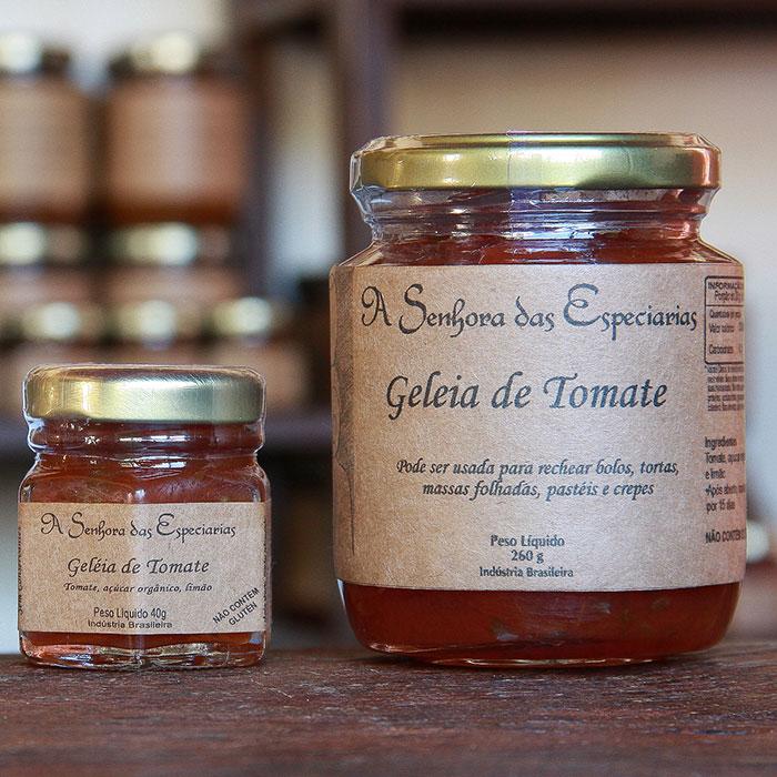 Geleia de tomate produzida por A Senhora das Especiarias em Gonçalves MG.