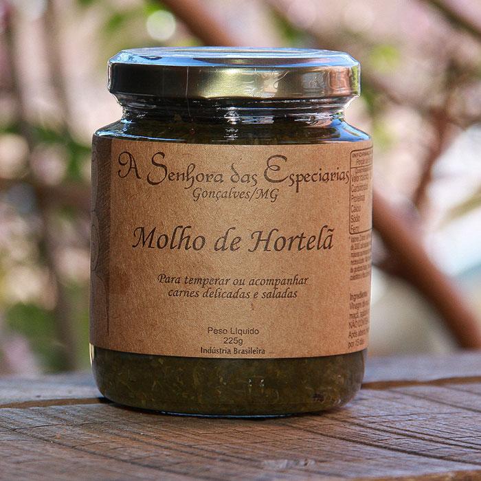 Molho de hortelã produzida por A Senhora das Especiarias em Gonçalves MG.
